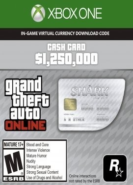 Grand Theft Auto Online: Great White Shark Cash Card Xbox ONE
